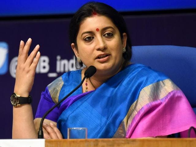 Union human resource development Smriti Irani