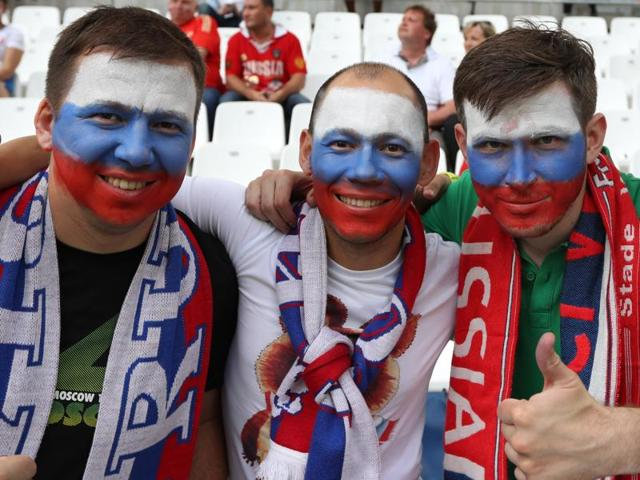 Football Soccer - England v Russia - EURO 2016 - Group B - Stade Vélodrome, Marseille, France - 11/6/16 Russia fans before the match REUTERS/Kai Pfaffenbach Livepic