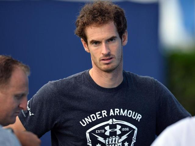 Britain's Andy Murray is pictured after a practice session at the ATP tournament at Queen's tennis club.