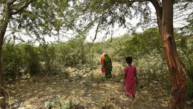 There is not a single toilet for 500 families living in Shahbad Diary, forcing every resident to rush to the nearby forest, where children and women become vulnerable to criminal attacks.
