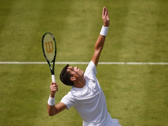 Canada's Milos Raonic in Aegon Championships' first round showdown at Queen's Club.
