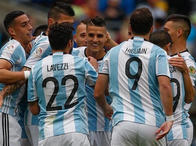 Messi was unable to score his 54th international goal, his 25-yard free kick going just wide of the goal.