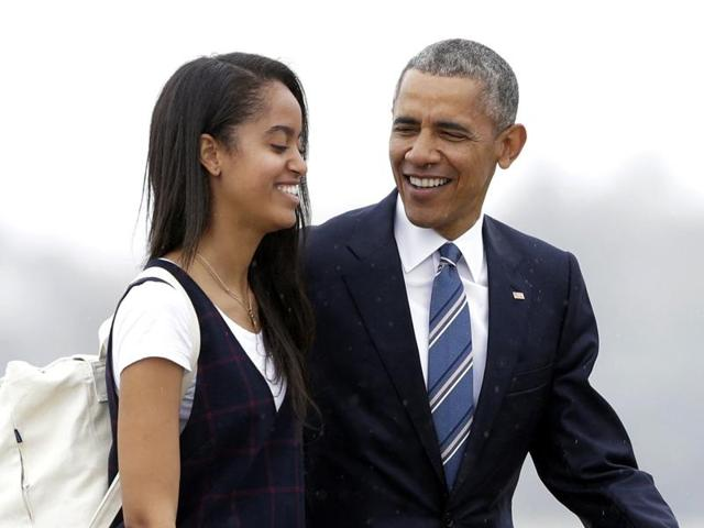 President Barack Obama with his daughter Malia who graduated from the prominent Sidwell Friends School in Washington DC last Friday.