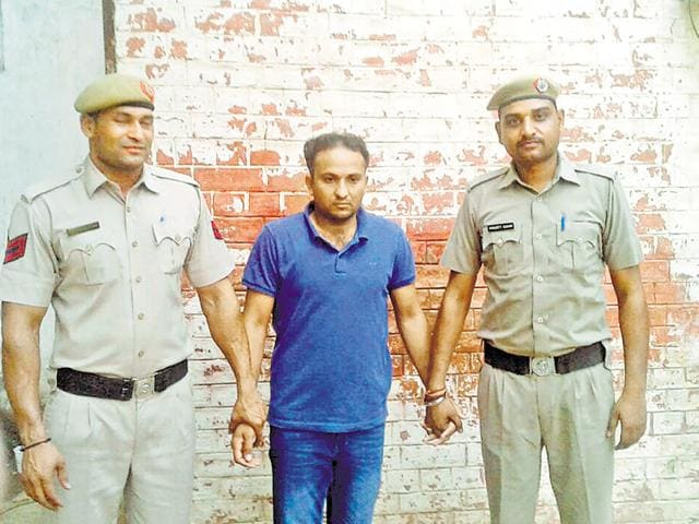 Pradeep Kumar was a contractual employee of an IT firm and had been provided access by the city police for some official work.(HT Photo)