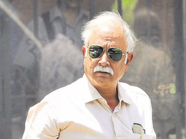 A file photo of civil aviation minister Ashok Gajapathi Raju comes out after attending Cabinet meeting at PMO office in New Delhi.