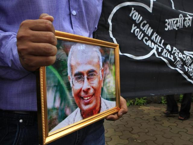 Narendra Dabholkar, a rationalist and author, was shot dead in Pune on August 20, 2013.