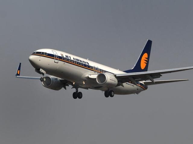 Passengers of Jet Airways can now take a flight earlier than their scheduled one by paying Rs 1000 more. (Photo by Prasad Gori / Hindustan Times)