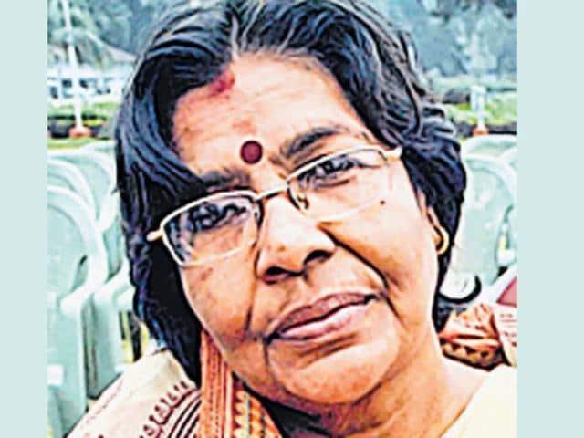 Usha Sinha, wife of former Bihar School Examination Board chairperson Lalkeshwar Prasad Singh