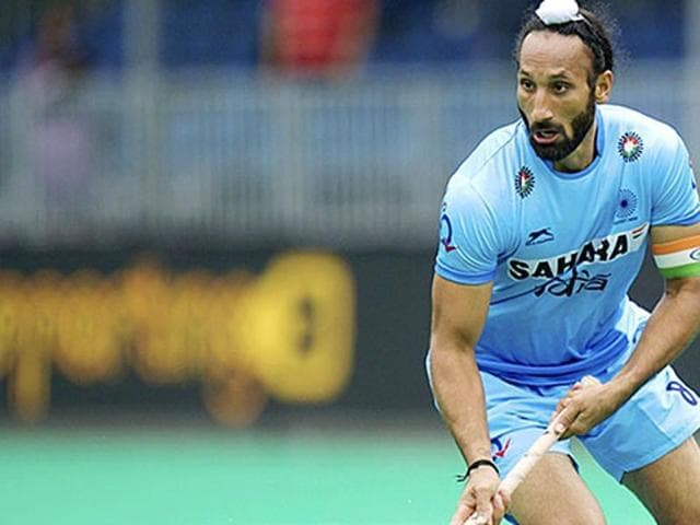 Indian hockey captain Sardar Singh in the Hockey World League semifinals in Antwerp.