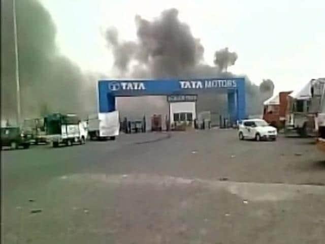 Tata motors fire