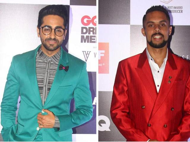 Ayushmann Khurrana and Robin Singh are among the   many male celebrities who have pulled off the bright suit trend in style.