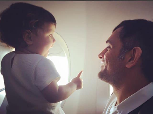 India's ODI captain MS Dhoni with his daughter Ziva
