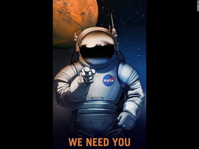 US space agency Nasa has just come out with a series of retro recruitment posters that advertise a series of potential positions it may one day need filled on Mars.