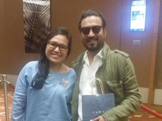 On meeting Irrfan Khan, his fan, Nuranisah Jalaludin broke into tears, and expressed her admiration for him. She even gifted Irrfan a box of chocolates and a card