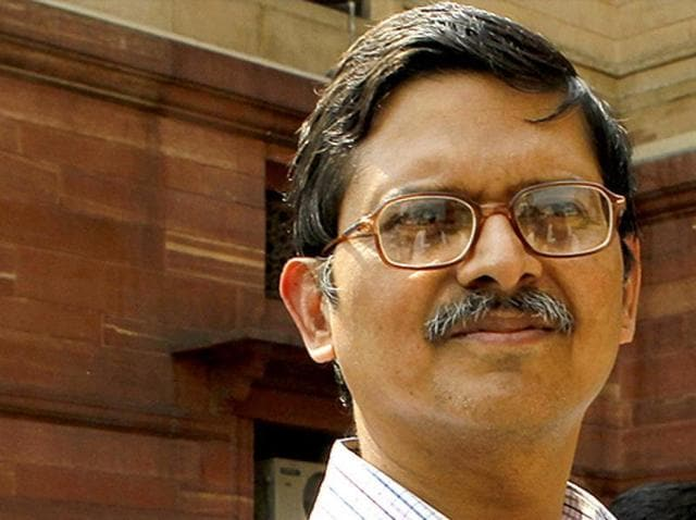 In this file photo, IPS officer Amitabh Thakur can be seent at the home ministry in New Delhi.