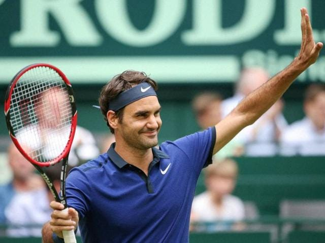 Roger Federer is vying for his ninth title at Halle, ahead of Wimbledon.