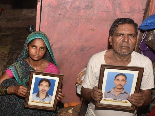 The Kanojias are to come to terms with the loss of their sons Dinesh and Kamlesh