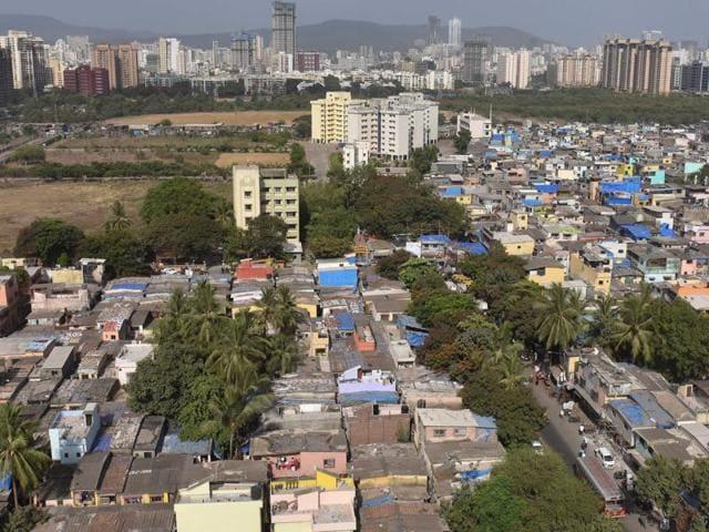 The Malwani slums in Mumbai.