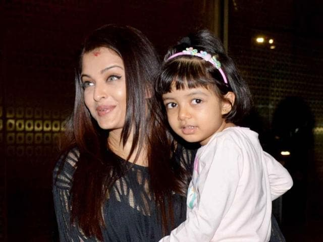Actor Aishwarya Rai Bachchan says that four-year-old daughter Aaradhya is used to the limelight.