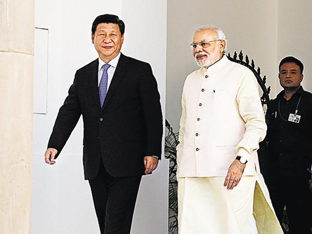 File photo of Prime Minister Narendra Modi with Chinese President Xi Jinping at Hyderabad House in New Delhi on September 18, 2014.
