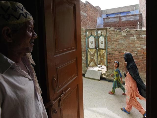 One of the 115 Muslim families in Alkala Mohalla who have migrated in Kairana, Uttar Pradesh.