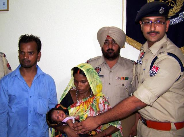 Cops rescued the 22-day-old baby within 24 hours of the abduction.