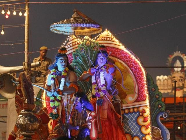A scene from last year's Ramlila in  Old Delhi.