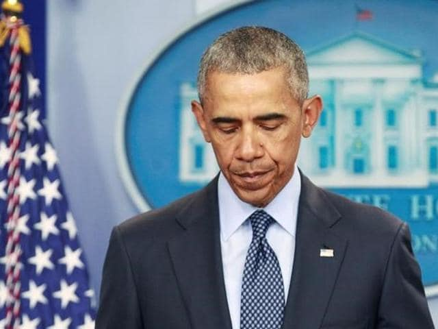 US President Barack Obama speaks about the worst mass shooting in US history that took place in Orlando, Florida.