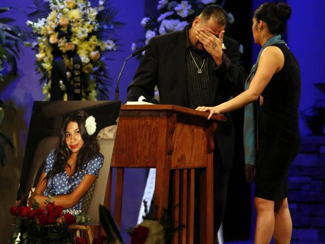 Reynaldo Gonzalez breaks down while remembering his daughter Nohemi Gonzalez, who was killed in the Paris attacks in November.