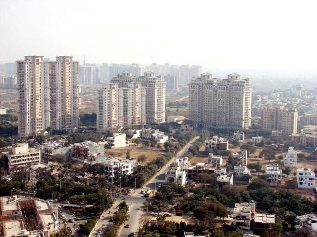 In this file photo, high-rise apartments in Gurgaon can be seen.