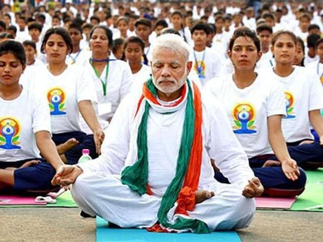 Prime Minister Narendra Modi had led over 35,000 people at the first International Day of Yoga at Rajpath, New Delhi, on June 21, 2015.