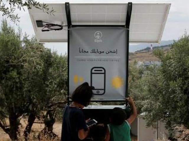 A team of students from Edinburgh University is hoping to change that, having designed a mobile phone charging station powered only by the sun -- something Greece has plenty of.