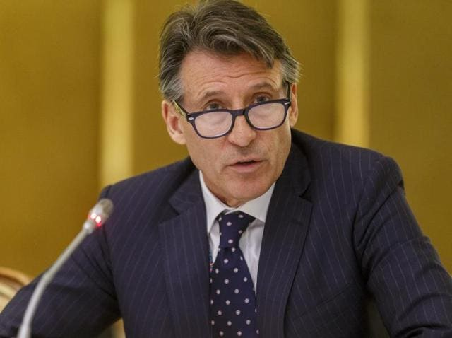 IAAF president Sebastian Coe during a meeting of the IAAF Council at the Grand Hotel in Vienna, Austria.