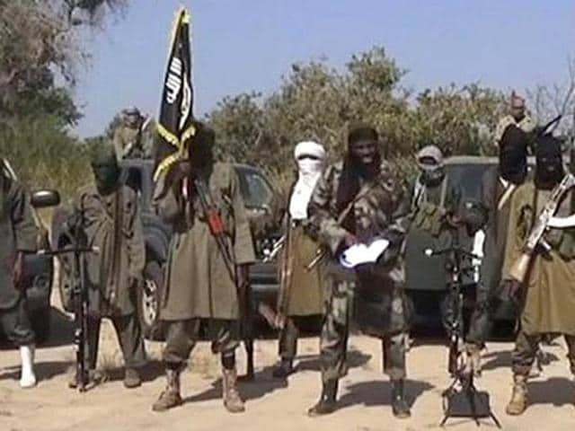 A file photo of Boko Haram militants (AFP Photo)