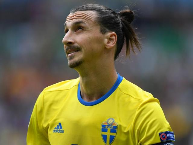Sweden's Zlatan Ibrahimovic in action during Euro 2016.