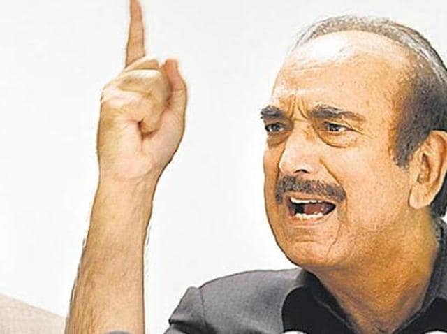 Ghulam Nabi Azad hinted at elevation of Congress vice-president Rahul Gandhi to the top post at an 'appropriate time'.