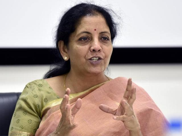 Minister of state for commerce & industry Nirmala Sitharaman at HT House in New Delhi on Tuesday, June 14, 2016.