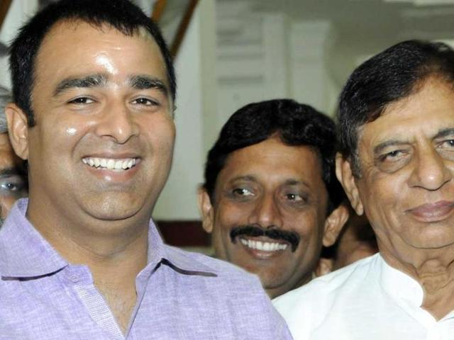 BJP MLA Sangeet Som, left, is seen here with BJP MP Hukum Singh, who sparked controversy by claiming that more than 250 Hindu families migrated from Kairana in the last two years.