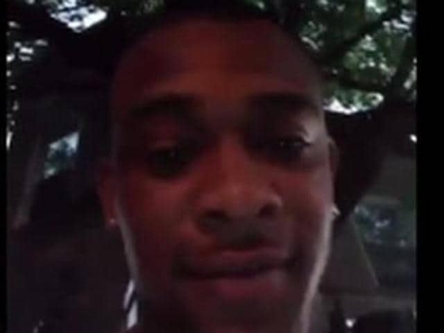 Screen grab of Antonie Perkins filming the Facebook Live minutes before he was shot. (Youtube screengrab)
