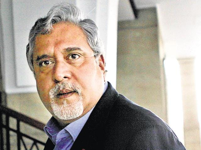 File photo of industrialist Vijay Mallya. A consortium of 17 banks led by State Bank of India (SBI) had lent around Rs 7,000 crore (Rs 9,000 crore with interests and penalties) to Mallya and the now-defunct Kingfisher Airlines.(Hindustan Times)