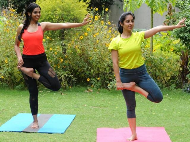 Swati Kain, 27, a yoga and pilates instructor, at her Gurgaon studio.