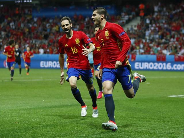 Morata's double was the first instance of a player scoring more than once at Euro 2016.