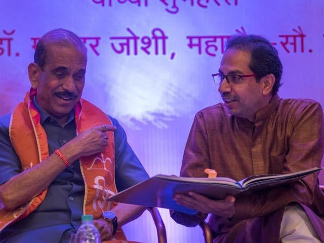 Shiv Sena chief Uddhav Thackeray launches Vaghache Panje, Vijay Dhavale's book on Bal Thackeray, in Andheri on Saturday.