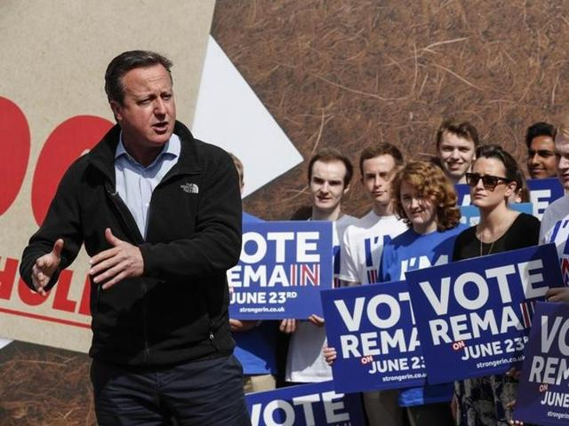 Britain's Prime Minister David Cameron wrote that if the UK left the European Union and it turned out to be a mistake, there would be no way of undoing the vote.
