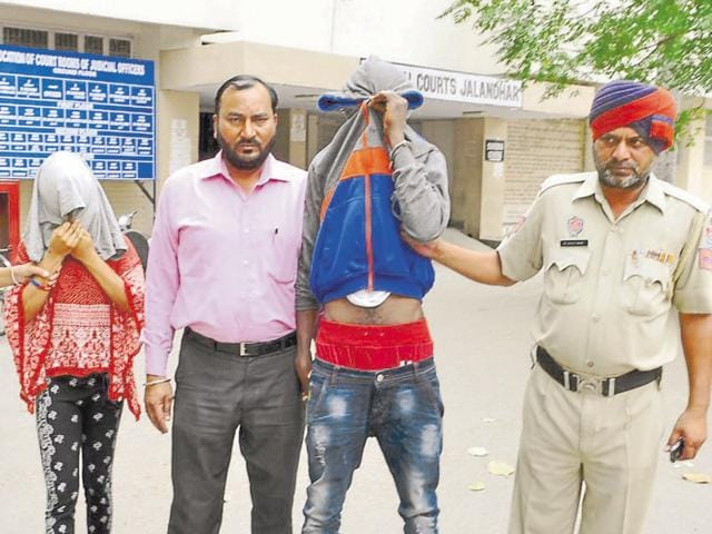 The accused leaving a local court in Jalandhar on Saturday.