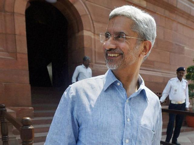 In this file photo, foreign secretary S Jaishankar can be seen at the Parliament House in New Delhi.