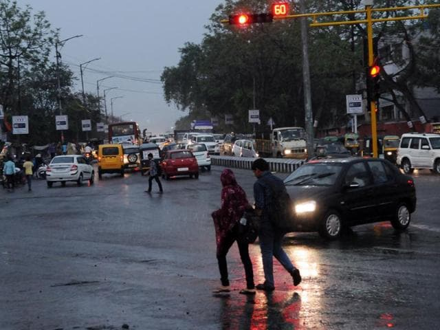 Pre-monsoon showers lashed Bhopal on Saturday.