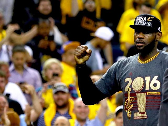 LeBron James after Cleveland Cavaliers' win.