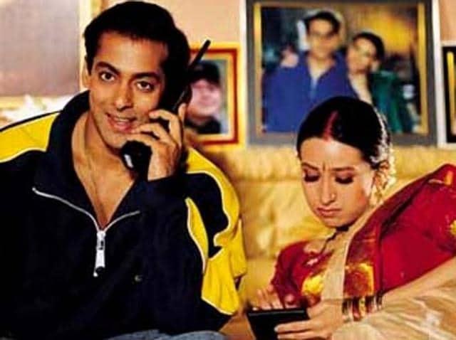 Karisma Kapoor and Govinda in a still from Hero No. 1.