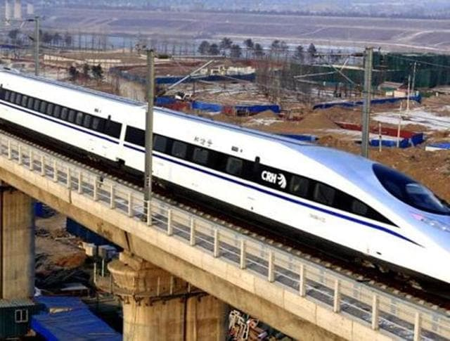 China bullet train,High speed train,India